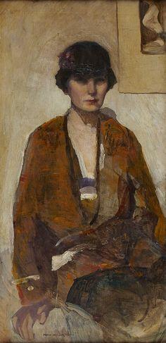 SELF PORTRAIT IN CLOCHE HAT by NORAH NEILSON GRAY R.S.W (SCOTTISH 1882-1931)