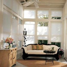 Cellular shades are great for a large multi-windowed room as they help with insulation
