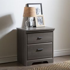 Lowest price online on all South Shore Versa 2-Drawer Night Stand in Gray Maple - 9041060