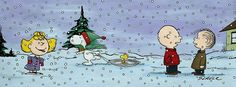 Peanuts winter scene