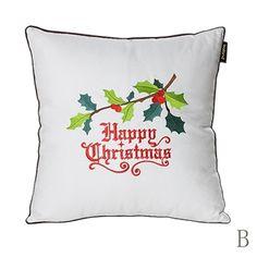 Soie de Noël oreiller brodé coussin de canapé