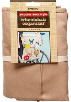 Wheelchair Organizer from Simplicity.    Craft Activity?