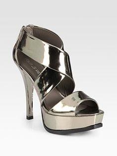 Pour La Victoire - Tifara Metallic Leather Platform Sandals