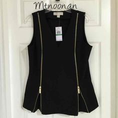I just listed NEW Michael Kors Black Zipper Tunic… ($60) on Mercari! (MSRP $110) Come check it out! #michaelkors