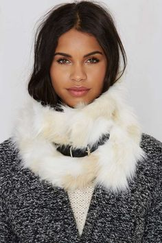 Nasty Gal Neck Yourself Faux Fur Scarf - Scarves + Gloves | Back In Stock | Accessories | Accessories
