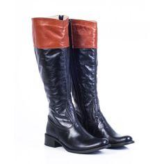 Dámske čižmy z prírodnej kože čierne -hnedé - manozo.hu Riding Boots, Heeled Boots, Heels, Fashion, Horse Riding Boots, High Heel Boots, Heel, Moda, Heel Boots