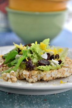 """A New Twist on a Classic: Try This Rice Cake """"Salads"""" Recipe"""