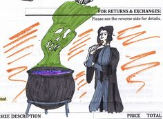 Our resident chemist Cameron's rendition of Snape, master of Potions! Potions are kind of the chemistry of the wizarding world.