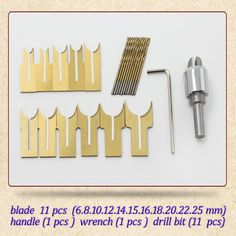 24pcs / set alloy ball knife diy woodworking tools wooden beads drill rosary bead molding 6/8/10/12/14/15/16/18/20/22/25mm