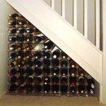 under stair wine rack! Genius!!!!!!