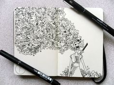 Spectacular Moleskine Doodles Explode with Energy - My Modern Metropolis Kerby Rosanes