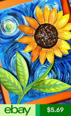 5 99 - Welcome Sunflower Decorative House Banner Double-Sided Garden Flag . Art Painting Gallery, Diy Painting, Sunflower Art, Simple Acrylic Paintings, Motif Floral, Zentangle, Painted Rocks, Watercolor Art, Canvas Art