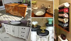 19 Recycled Projects To Customize Your Small Bathroom
