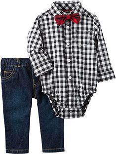 Carter's Baby Boys' 3 Piece Bowtie Print Dress Me Up Set baby boys Baby Boy Fashion, Fashion Kids, Toddler Fashion, Fashion Spring, Fashion Shoes, Fashion Design, Baby Boy Outfits, Kids Outfits, Baby Boy Christmas Outfit