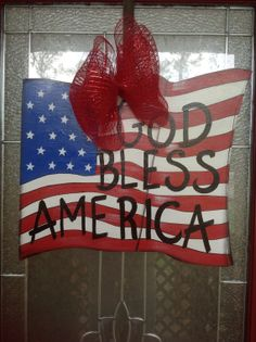 US flag door hanging Ready to Ship. by samthecrafter on Etsy, $37.00