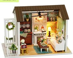"""Universe of goods - Buy """"DIY Wooden House Miniaturas with Furniture DIY Miniature House Dollhouse Toys for Children Christmas and Birthday Gift for only USD. Dollhouse Toys, Wooden Dollhouse, Dollhouse Miniatures, Wooden Dolls House Furniture, Dollhouse Furniture, Miniature Furniture, Doll Furniture, Miniature Crafts, Miniature Dolls"""