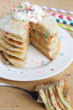 12 DessertInspired Pancakes Including Funfetti Cinnamon Roll