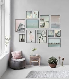 gallery wall (shelves and frames from PB)Netural Living Room Decor Details Interior Modern Style Ideas To Update Your Decor Room, Wall Art Decor, Bedroom Decor, Home Decor, Bedroom Wall, Living Room Interior, Home Living Room, Living Room Decor, Inspiration Wand