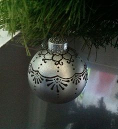 henna painted ornaments