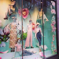 """MISS SELFRIDGE,London,UK, """"Mandy to me,flowers are happiness"""", pinned by Ton van der Veer"""