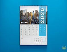 It is a slightly minimal and modern calendar design.