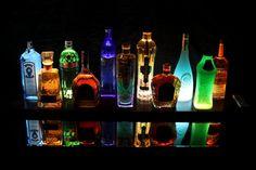Underlit Display 44.5 LED Lighted Liquor Shelf by LightedDisplays