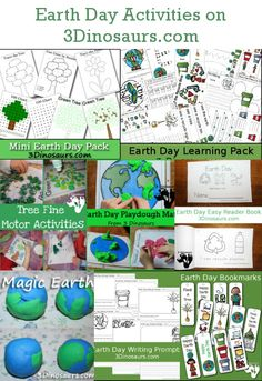 Earth Day Printables & Activities on 3 Dinosaurs