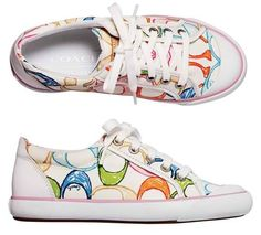 Colorful Coach Shoes. I want these!!!