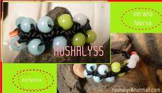 Las Manualidades de Roshalyss: pulsera verano de hierva