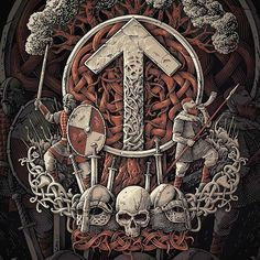 The Runa of Tyr…(Scandinavian mythology). Rune Tattoo, Norse Tattoo, Celtic Tattoos, Viking Compass Tattoo, Viking Warrior Tattoos, Norse Pagan, Norse Symbols, Viking Art, Viking Runes