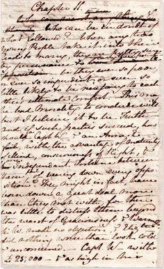 Jane Austen's original manuscript ofPersuasion, with rewritings. Looks surprisingly like my own handwriting