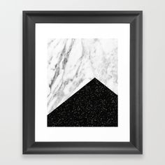 Ebony marble glitter geometric print. Choose from a variety of frame styles, colors and sizes to compliment your…
