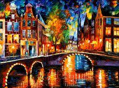 Bridges of Amsterdam by Leonid Afremov