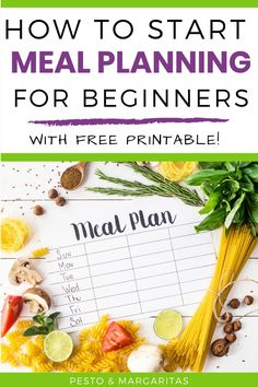 Are you a complete beginner at meal planning? That's no problem! Here are loads of ideas that will help you get started with meal planning and also includes a free meal plan and shopping list to help out Tomato Pesto Chicken, Make A Grocery List, Cider Cocktails, Chicken Breakfast, Recipe Cover, Free Meal Plans, Recipe Organization, Save Money On Groceries, Side Dishes Easy