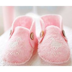 Baby booties to make with cross stitch