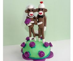 SOCK. MONKEY. CAKE. TOPPERS.
