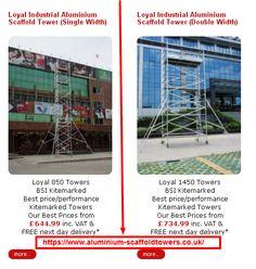 Loyal Industrial Aluminium Scaffold tower (Single Width) At https://www.aluminium-scaffoldtowers.co.uk/ #buyscaffodtower #uk #scaffolding