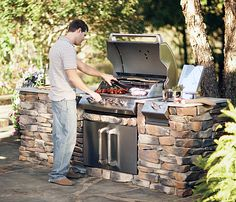 Building an outdoor kitchen is the ultimate expression of one's love of grilling. Click through to see some terrific outdoor kitchens we found on the internet.