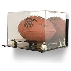 For Tony's signed LSU football.. Amazon.com: BCW Deluxe Acrylic Football Display - With Mirror & Wall Mount - With Mirror