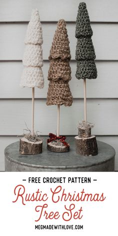 Crochet Christmas Decorations, Small Christmas Trees, Christmas Tree Pattern, Crochet Christmas Ornaments, Holiday Crochet, Christmas Crafts, Christmas Christmas, Free Christmas Crochet Patterns, Christmas Thoughts