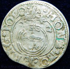 POLAND 1622 Silver 3 POLKER 1/24 Thaler sku #PL34 17th Century, Poland, Medieval, Coins, Personalized Items, Silver, Ebay, Rooms, Mid Century