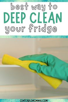 As part of your cleaning routine, you may want to deep clean your fridge, but what's the best way to do it? Check out these 7 easy steps (including using baking soda) for how to have a clean refrigerator in your home kitchen. Deep Cleaning, Spring Cleaning, Cleaning Hacks, Clean Refrigerator, Baking Soda, Routine, Organization, Kitchen, Easy