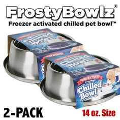 FrostyBowlz 14oz. Chilled Cat Bowl 2-PACK *** Check out this great product.