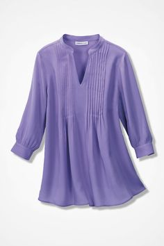 Pleated Popover Tunic - Coldwater Creek