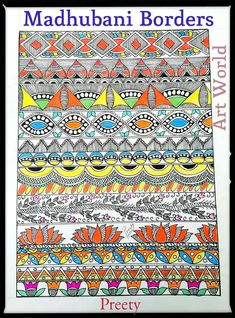 How to draw madhubani Courtesy: Preety's Art World the step by step tutorial for Madhubani Peacock Design Here is another Step By Step Tutorial to make Sim Mural Painting, Fabric Painting, Ceramic Painting, Kalamkari Painting, Mandala Art Lesson, Madhubani Art, Indian Folk Art, Indian Art Paintings, Madhubani Painting