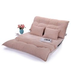 Adjustable Folding Leisure Floor Sofa Bed Modern Gaming Sofa w/Two Pillows Chair Sofa Bed, Lounge Sofa, Gaming Lounge, Swivel Chair, Sofa Bed Video, Folding Sofa Bed, Floor Couch, Dining Room Chairs Ikea, Office Chairs