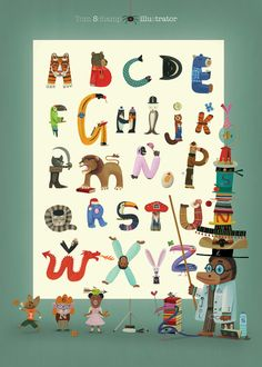 ABC Poster by Tom Schamp #illustration #kids