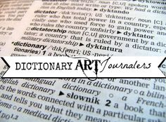 flying shoes art studio: THERE'S A DICTIONARY ART MOVEMENT GOING ON