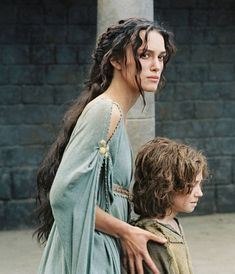 """Drea and Percy Drea: """"I owe nothing to you! I am here for Percy, his mother gave her life saving me and I will repay her. When the danger becomes too great, I will take him to Burrow."""""""