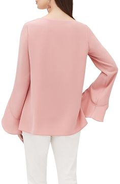 Lafayette 148 New York Emory Finesse Crepe Blouse Ankara Gown Styles, Ankara Gowns, Stylish Work Outfits, Crepe Fabric, Lafayette 148, Shirt Blouses, Blouses For Women, Nordstrom, Feminine